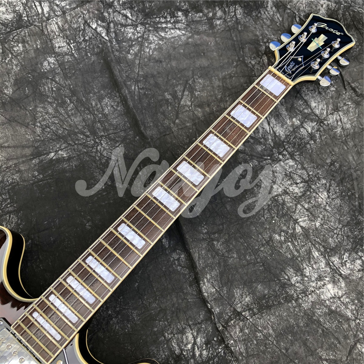 Grote Coffee Flame Maple Electric Guitar Rosewood Fingerboard Double F Holes Thin Hollow Body  Jazz enlarge