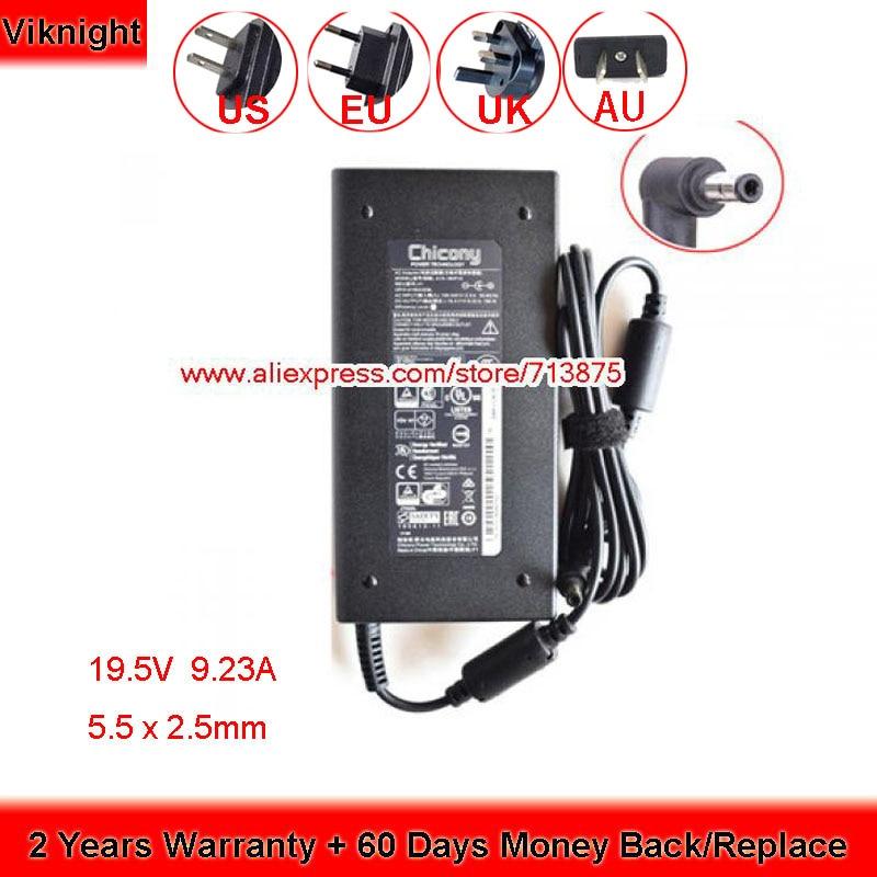 Оригинальный 19,5 V 9.23A адаптер переменного тока для CHICONY A15-180P1A ADP-180MB K A17-180P4A A17180P4A A180A005L A180A034P GS63VR N850HP6 MX-15