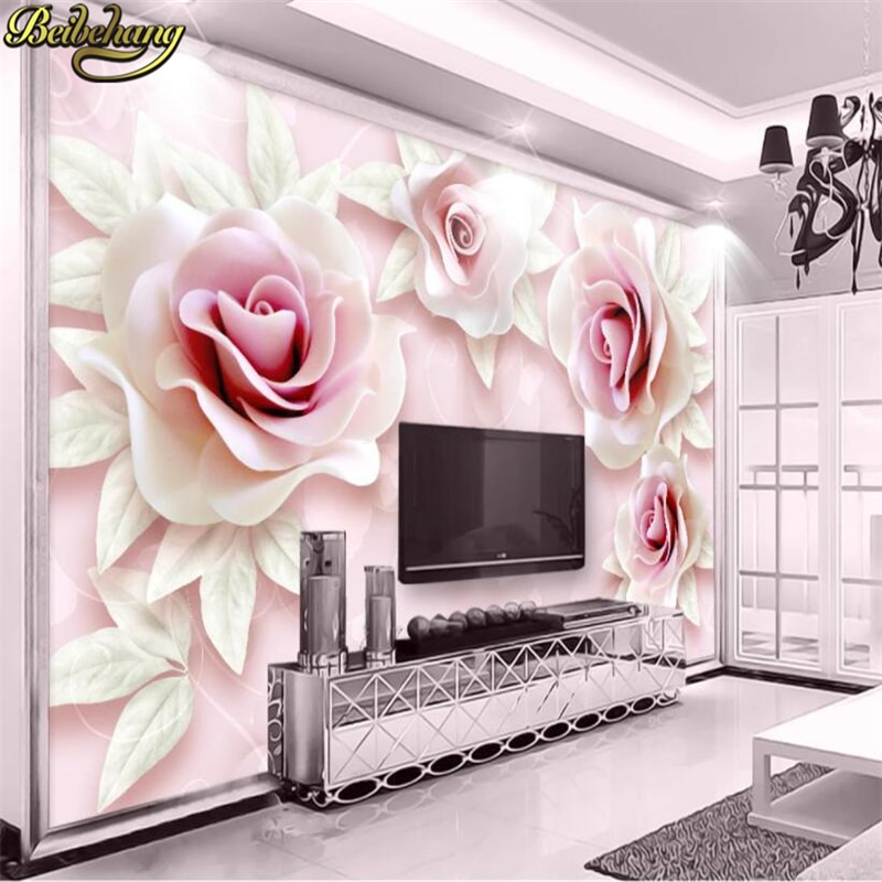 beibehang embossed magnolia pearl nordic jewelry wall papers home decor 3d flooring wallpaper for living room home improvement beibehang custom Embossed pink rose wallpaper for living room bedroom furniture 3D decoration photo mural wall papers home decor