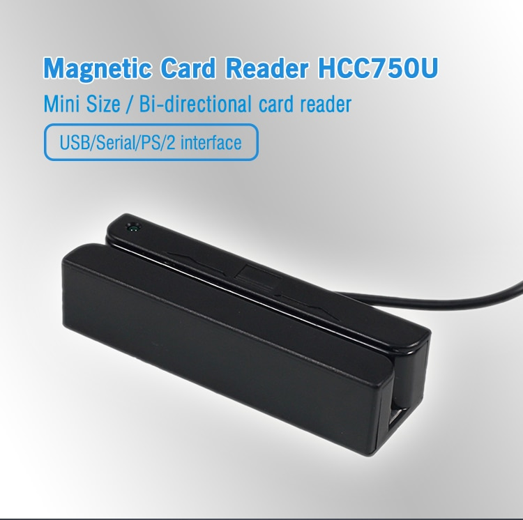 3 Track RS232/ USB ATM Encoder Magnetic Stripe Card Reader HCC750 high efficiency 2 2mm magnetic encoder opened magnetic linear scale encoder
