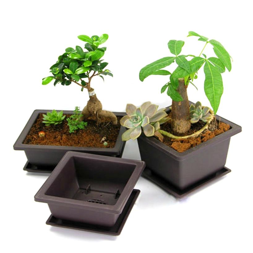 Maceta para jardín de plástico de 23x17cm, suministro de plantas, macetero para suculentas, balcón, bonsái, Maceteros de decoración para guardería