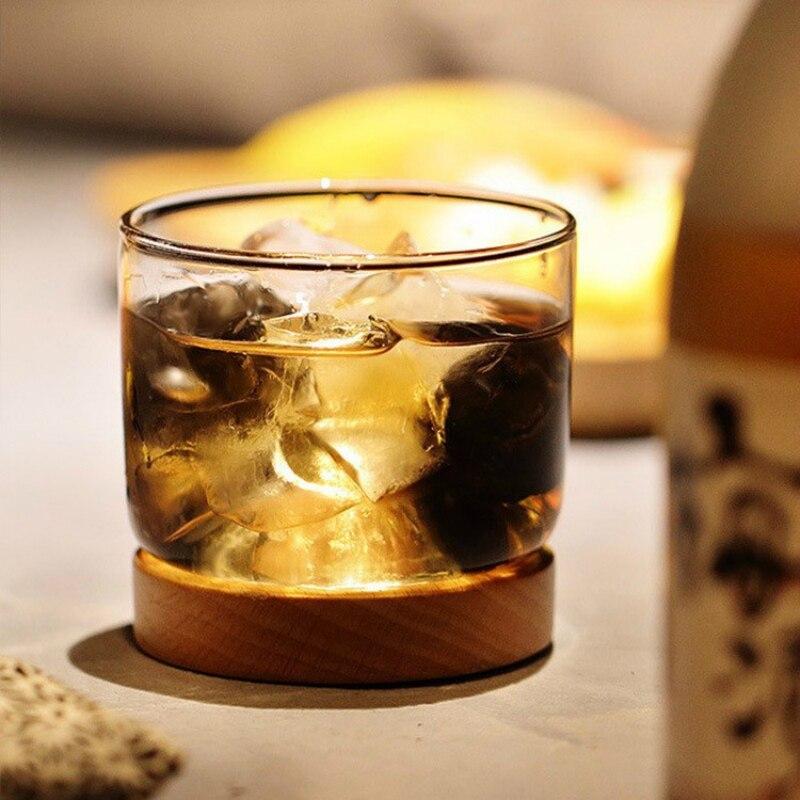 منخفضة مفتاح فاخر كأس نبيذ من الكريستال مع قاعدة صينية الزان جبل رخيصة فيدرو ويسكي أكواب بار تيبسي Chivas كاسات صغيرة بالجملة