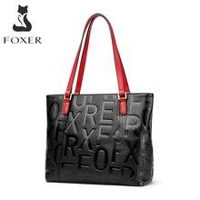 FOXER femmes 100% doux en cuir véritable naturel grand fourre-tout dame grande capacité sac à main femme 2020 mode Desigh sac à bandoulière sac à main