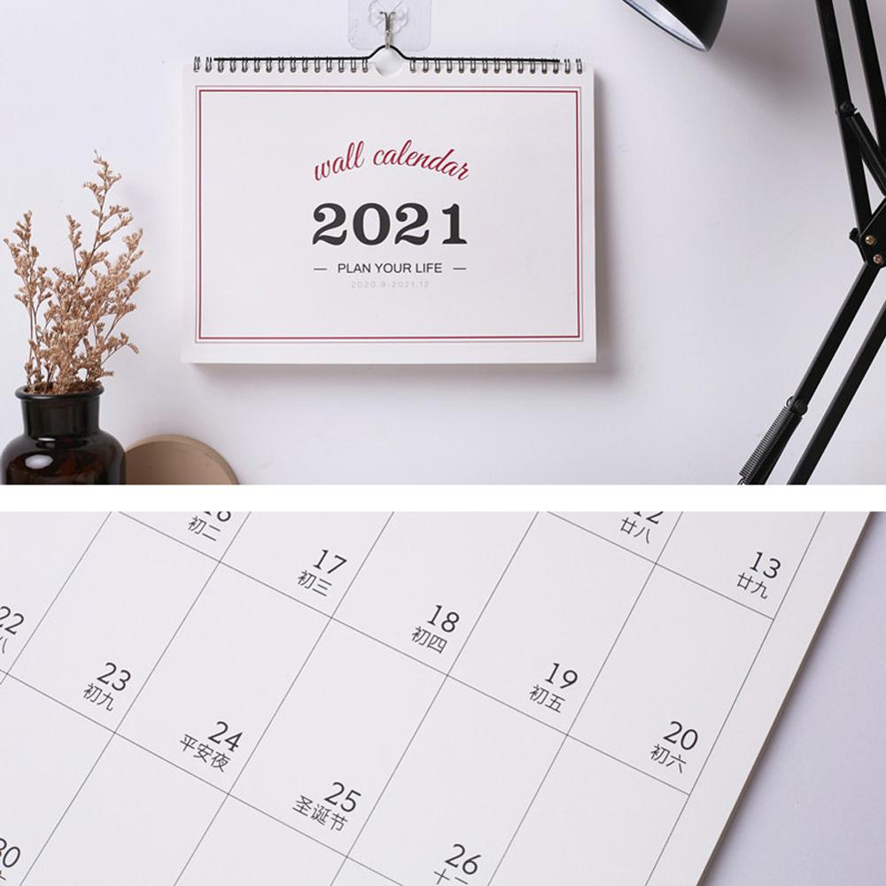 2021 Desk Calendar 12 Months Monthly Planning Calendar For  School And Office Minimalism Plan Book Tearable Home Essentials
