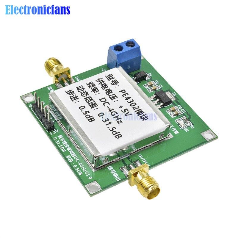 PE4302 Digital RF Step Attenuator Module RF High Linearity DC 4ghz 0-31.5db 0.5dB Stepping High Frequency 5V DC High Linearity