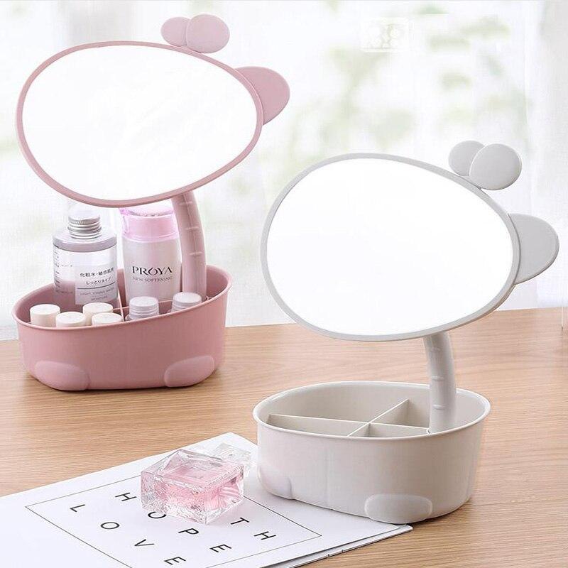 De alta definición espejo Caja de almacenaje para maquillaje de escritorio del hogar de producto para el cuidado de la piel Rack Almacenamiento de cosmético caja de cosméticos