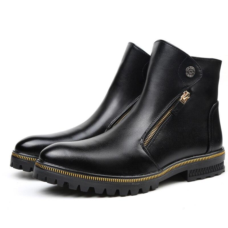Botas de tobillo de moda de lujo para hombre estilo Inglaterra zapatos...