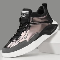 autumn winter fashion male sneakers casual breathable leather for men shoes lace up thick bottom platfofm flat heel non slip