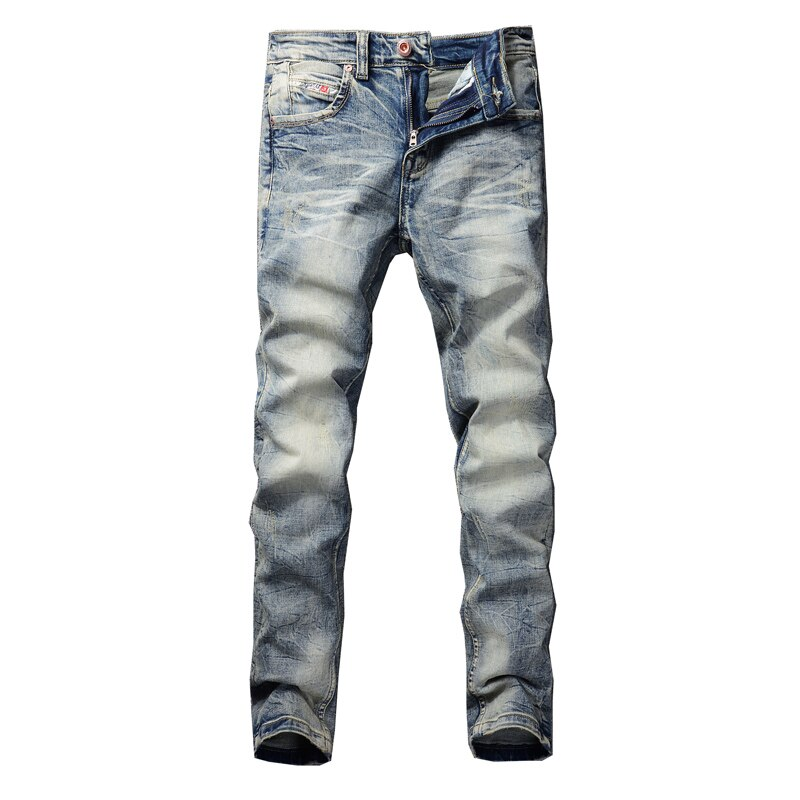 Mens Youthful  Straight Slim High Quality Pants Denim Casual Harem Male Fashion Jeans   Trousers Man  solid Versatile Streetwear