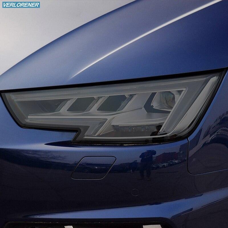 2 قطعة سيارة العلوي واقية فيلم المدخن الأسود تينت التفاف الفينيل شفافة TPU ملصقا لأودي A4 S4 RS4 B8 B9 8K 8W 2012-على