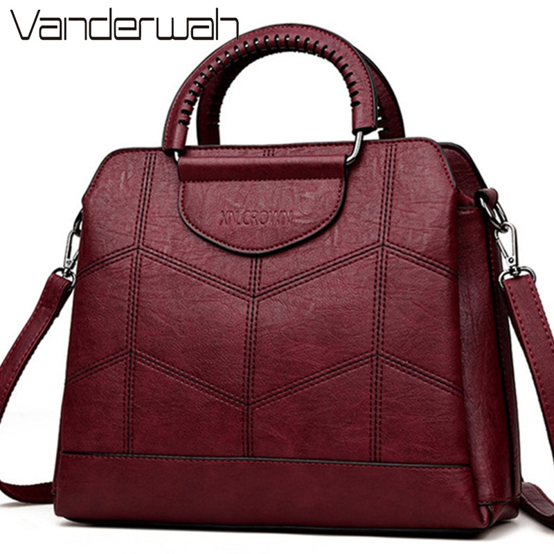 3 طبقات كيس الرئيسي عالية الجودة والجلود حقيبة يد فاخرة حقائب النساء مصمم حقائب السيدات Crossbody حقائب اليد للنساء 2021