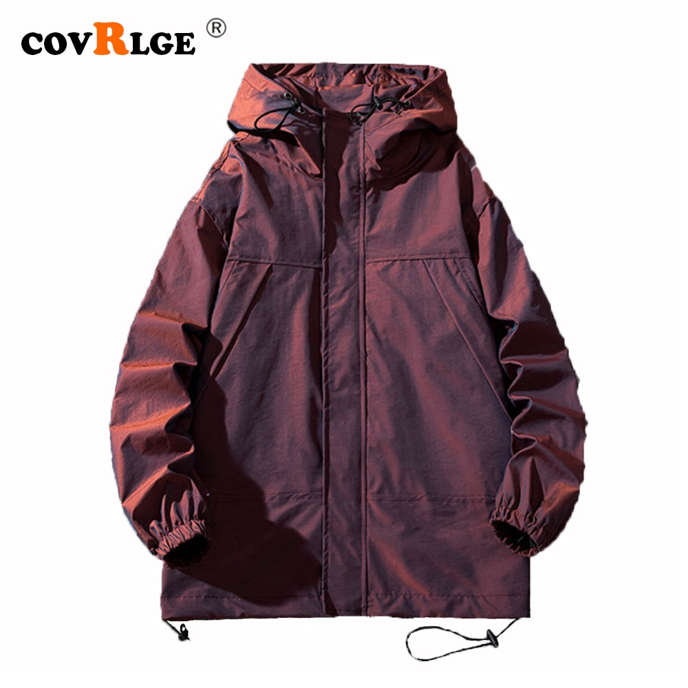 Covrlge Jacket Mens Spring Autumn New Colorful Reflective Handsome Clothing Trendy Tooling Brand Top MWJ223