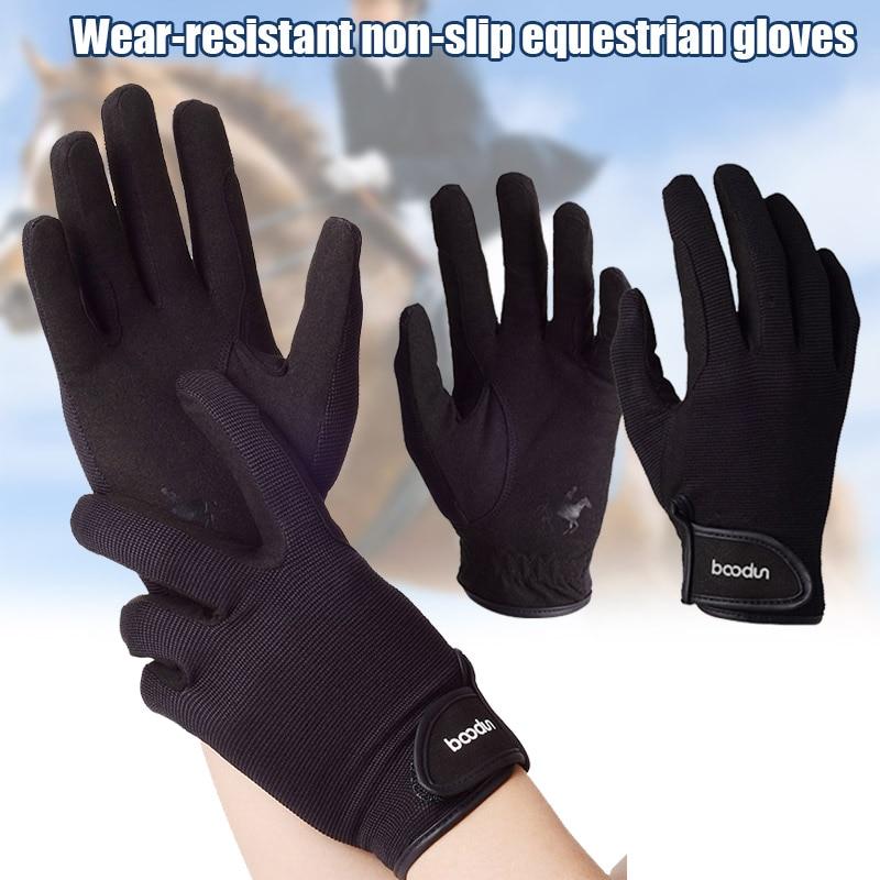 Nuevo Profesional guantes de montar ecuestre montar a caballo para hombres mujeres ligero transpirable BFE88