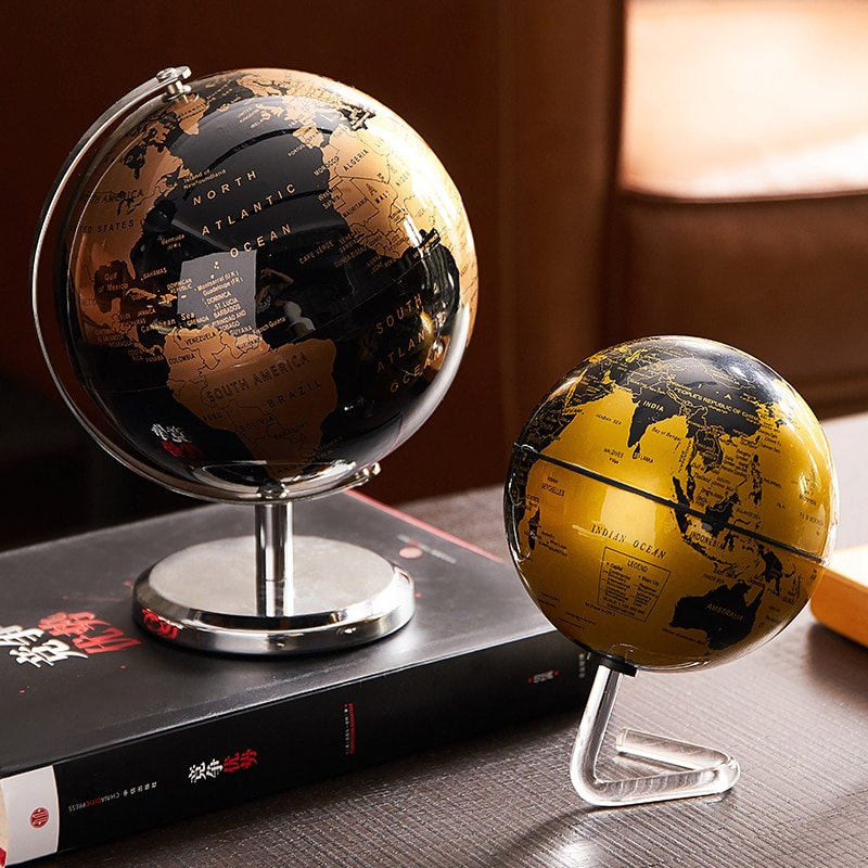 Plastic Educational-Toy Home Decoration Modern Office-Gadgets Led-Light Miniatures Geography World-E