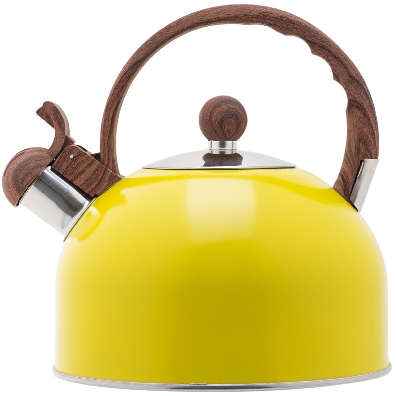 Yellow Water Kettles Boiling Cookware Vintage Whistling Water Kettle Stove Outdoor Hervidor Agua Kitchen Accessories EH50WK