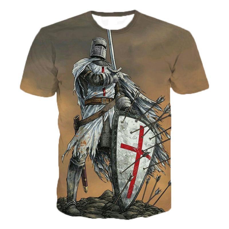 2020 knights templar 3d impressão t camisa cavaleiros templar moda casual t-shirts das mulheres dos homens hip hop harajuku streetwear t camisa