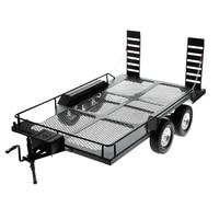 metal dual axle trailer kit for 110 rc crawler car traxxas trx4 trx 6 axial scx10 redcat gen8 rgt smt tamiya cc01