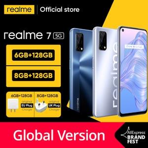 Мировая премьера realme 7 5G Dimensity 800U смартфон 6 ГБ 128 120 Гц Дисплей 48MP Камера 5000 мА/ч, глобальная Версия 30 Вт Дротика заряда