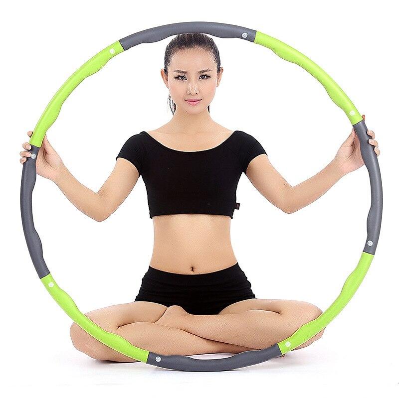 Adulto fitness esportes perda de peso hoop esporte removível aros massagem loop corpo musculação treino fino equipamentos de fitness