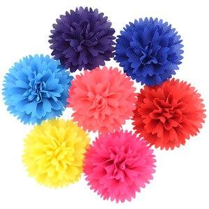 "4"" 10pcs/lot Peony Rose Fabric Flowers for Baby Girls Headband Hair Clips Diy Women Kids Headwear Hair Flower Accessories"