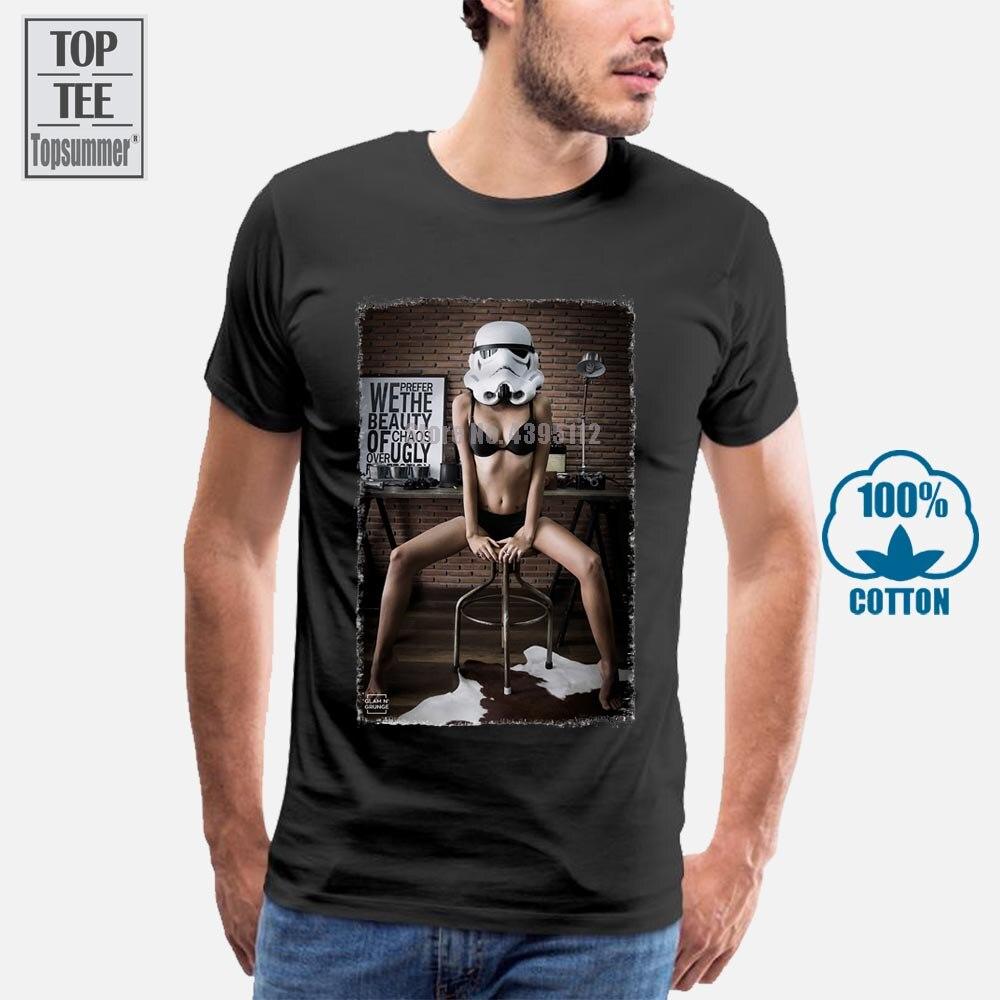 2018 novos homens t camisas sexy menina modelo trooper nerd swag cali legal t-shirts projetos mais vendidos homem 024