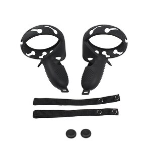 Quality Advanced Silicone Grip Cover for Oculus Quest 2 VR Contact Controller Handle, Adjustable Hand Strap
