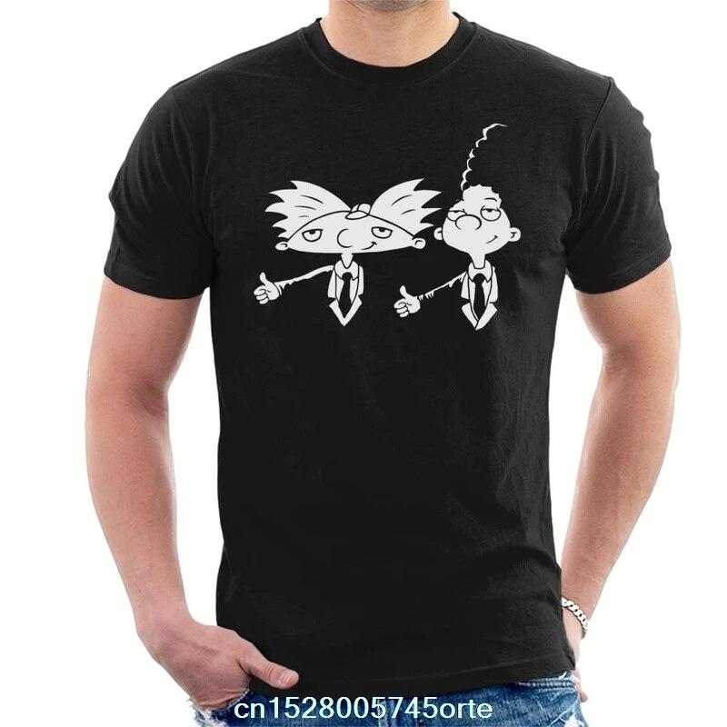 Camiseta estampada Hey Arnold Pulp Fiction para hombre, camiseta 100% de algodón para mujer