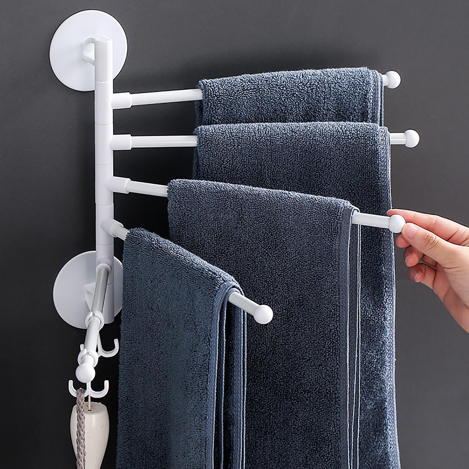 Soporte de toalla para baño, estante Adhesivo para toalla de cocina, Mural...