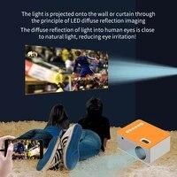 UC28D     projecteur video Portable 16 7M  cinema a domicile  fourniture de bureau  Support ligne de donnees telephone Portable avec ecran  lecteur multimedia