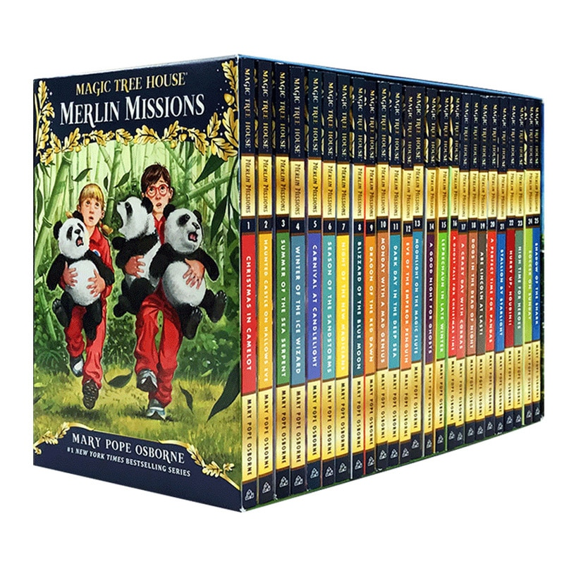 24 Books Magic Tree House Merlin Missions 1-24 English Reading Story Books Children Adventure Science Chapter Book
