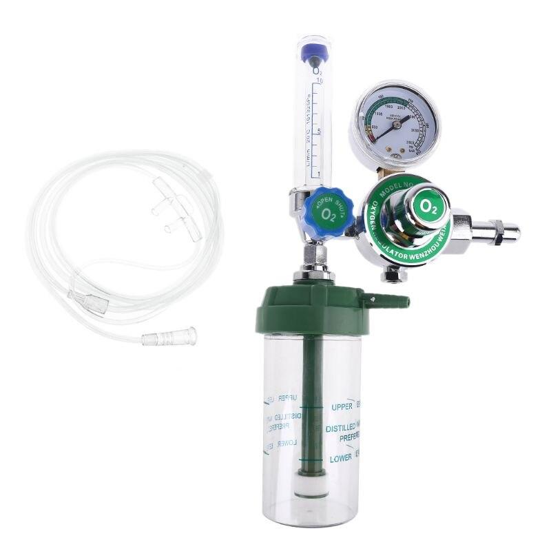 G5/8 CGA540 регулятор давления кислорода O2 редукционный клапан расходомер для кислородного ингалятора газовый регулятор CGA-540