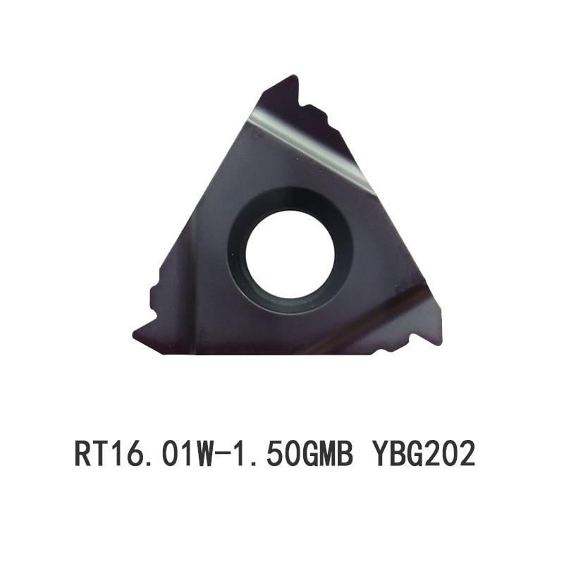 10 قطعة RT16.01W-1.50GMB YBG202 الملعب 1.5 ZCC الموضوع لوحة رقيقة نوع أداة لولبة من الكربيد إدراج سمك 3.52 مللي متر ISO القياسية نصائح