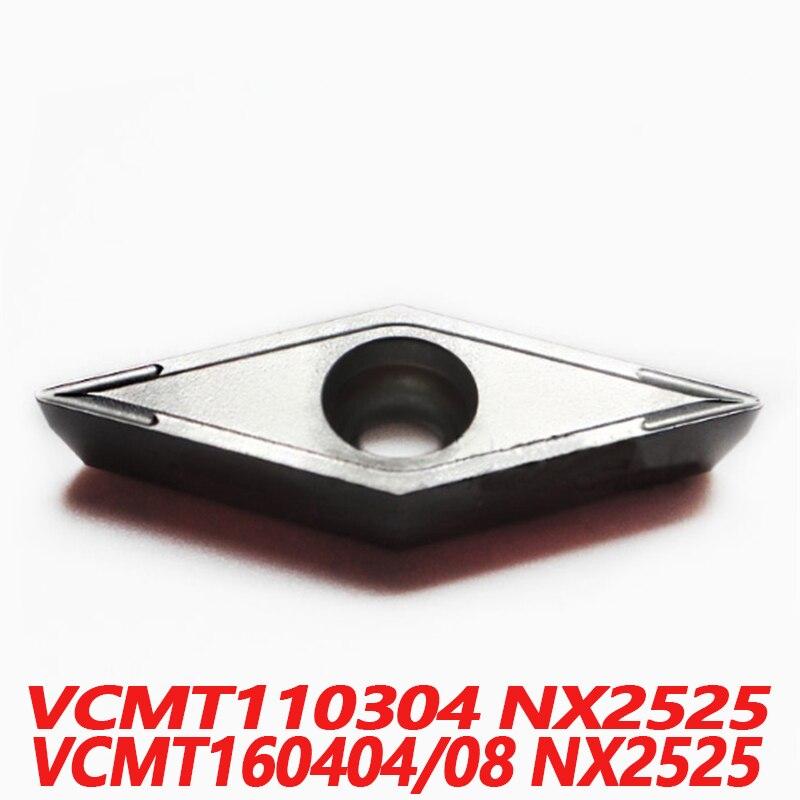 100% الأصلي VCMT VCMT110304 NX2525 VCMT160404 VCMT160408 10 قطعة CNC مخرطة الإدراج كربيد إدراج المستوردة من اليابان جودة
