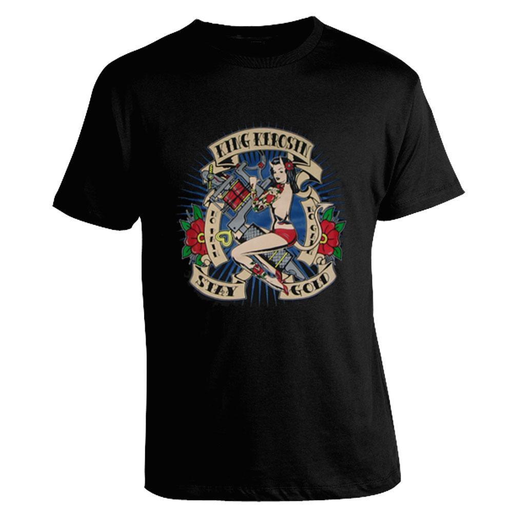 Camiseta King Kerosin - Stay Gold gran descuento algodón hombres camisetas