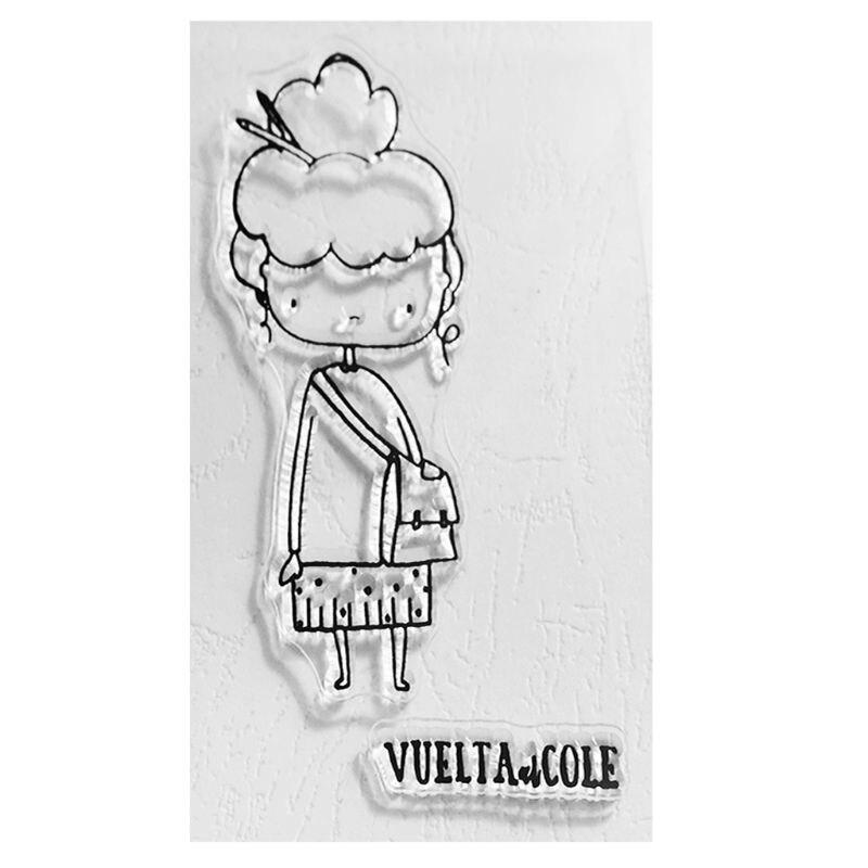 Litera chica sello de silicona transparente DIY álbum de recortes en relieve álbum de fotos Tarjeta de papel decorativa arte hecho a mano regalo