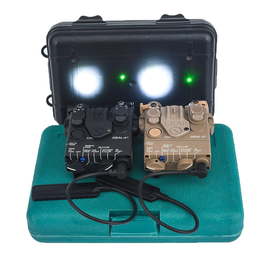 WADSN DBAL-A2 Red Green Dot Dual Beam Laser Sight Scoutlight Tactical DBAL PEQ Aiming Airsoft Weapon Rifle Laser Lights NO IR original fma tactical military airsoft an peq 15 battery box laser red dot laser with white led flashlight and ir lens tan bk