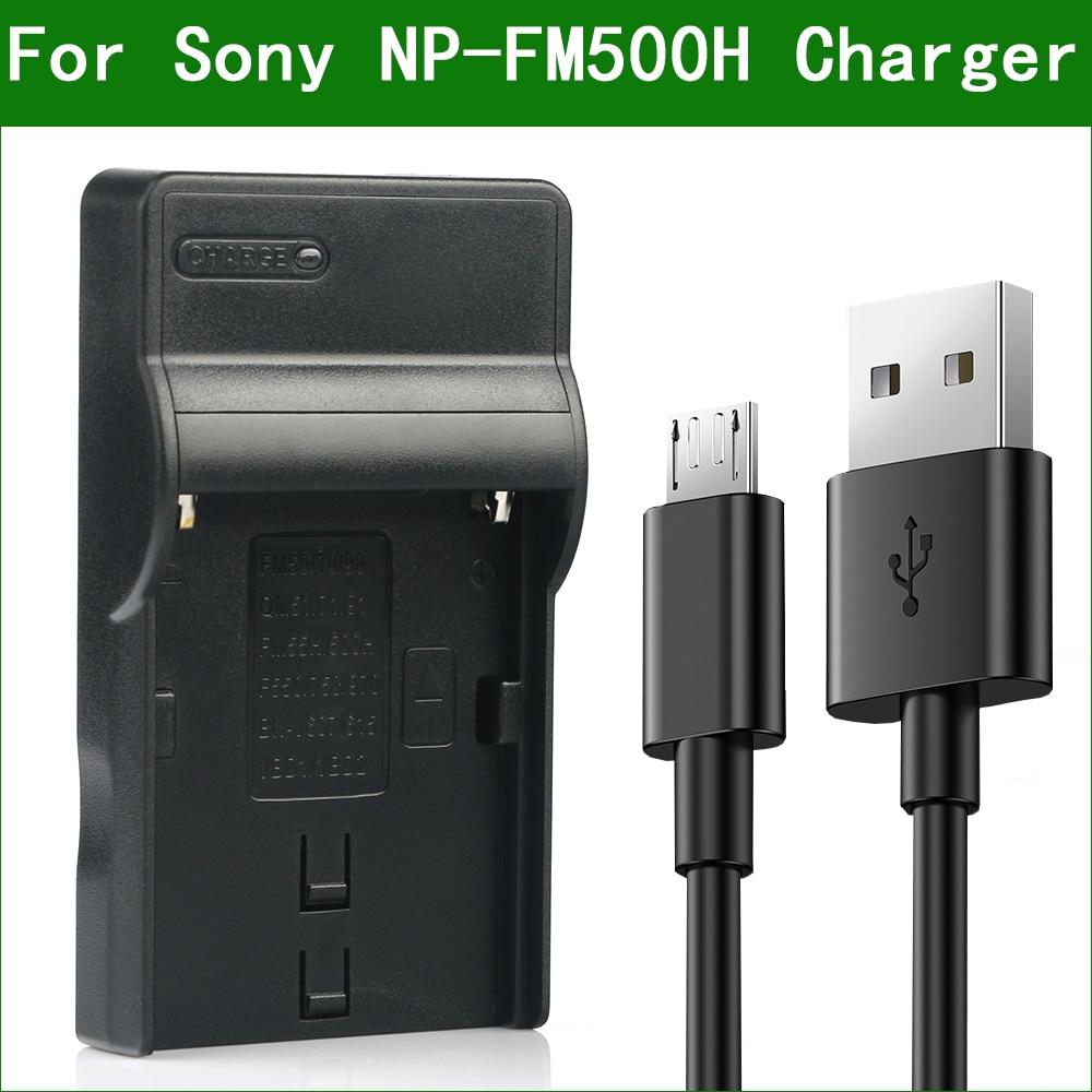 NP-FM500H FM500H NPFM500H USB סוללה מטען עבור Sony DSLR a200 a300 a350 a450 a500 a550 a560 a580 a700 a850 a900 a77II a99II