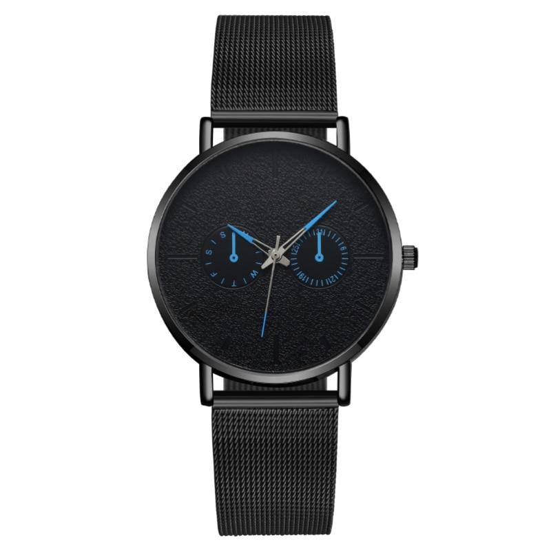 MREURIO Masculine Men's Watch Two-Eyes Watch Simple Business Quartz Wristwatches for Men Luxury Relogio Clock enlarge