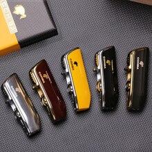 COHIBA Metal Windproof Mini Pocket Cigar Lighter 3 Jet Blue Flame Torch Cigarette Lighters With Ciga