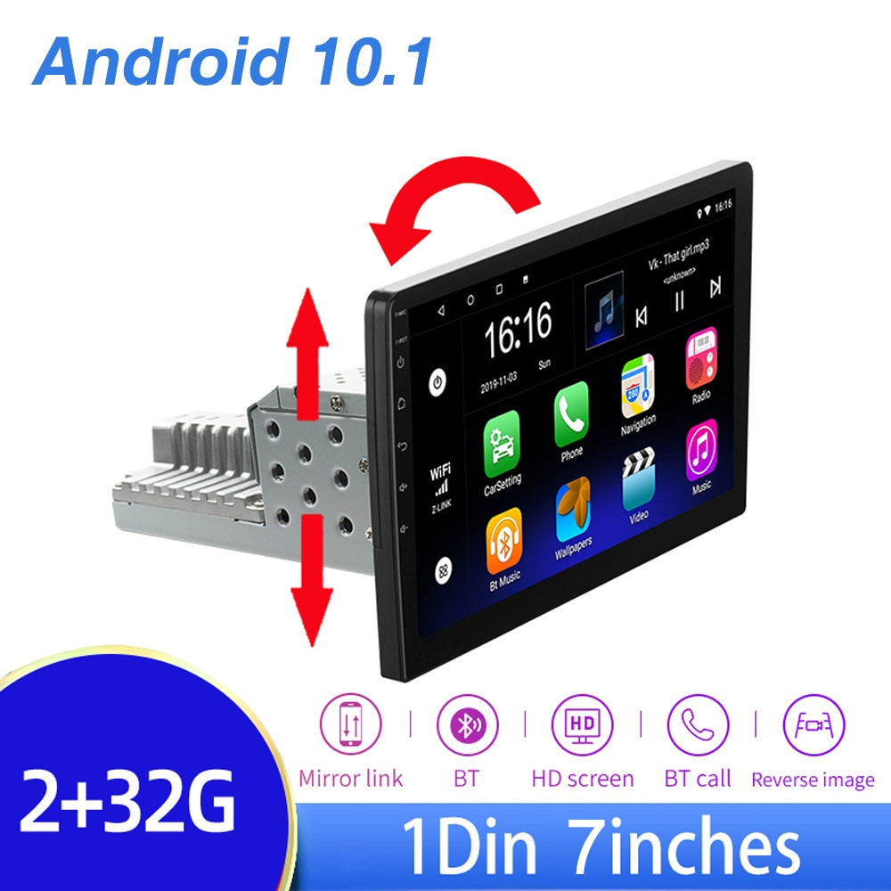 2G+32G Android 10.0 1din Car Radio Multimedia Player WiFi Bluetooth 7'' HD Touch Screen Car Stereo G