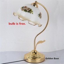 Lampe de Table de Style britannique classique Lampara Escritorio Abajur Luminaria de Mesa E27 Tafellamp rétro lampes de lecture fleur lampe de bureau