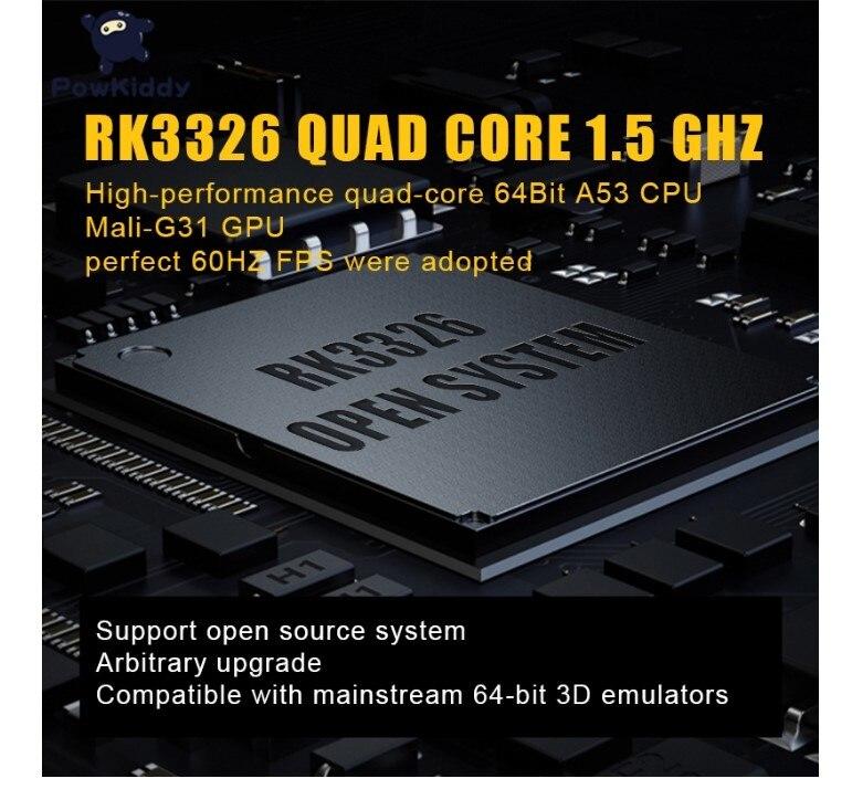 POWKIDDY-consola de juegos porttil RGB10, 3,5 pulgadas, IPS, RGB10 Max, 128GB, 30000 juegos, cdigo abierto, PS N64, Retro enlarge