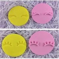 unicorn eyelash pla plastic embosser stamp cookie cutter cake mold cake tools deluxe stamp 3d mold custom