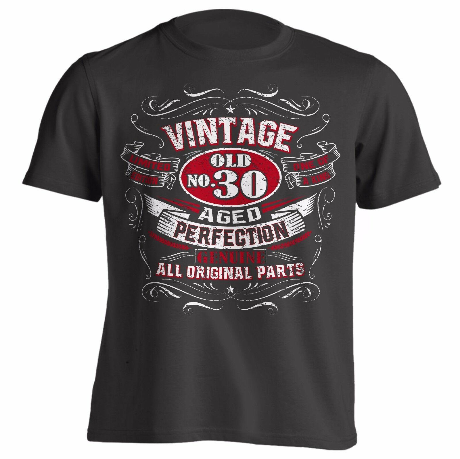 1969 1979 1989 vintage envelhecido perfeição presente de aniversário camisa ótima idéia presente para homens 30th 40th 50th 2019 moda unisex t
