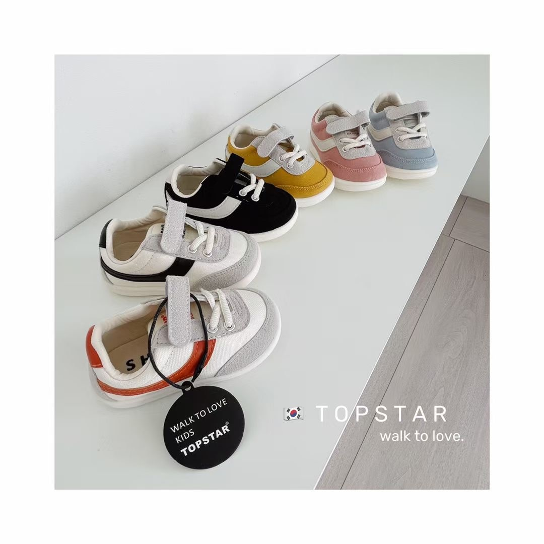 2021 autumn new children's sports shoes boys' casual shoes girls' baby soft soled Velcro Korean single shoe trend