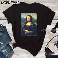 Mona Lisa New Design Summer Short Sleeve Black Womens T Shirt Fashion Shirt T-Shirt Aesthetic Women Tees Tops