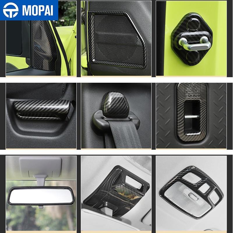 MOPAI Automotive Interior Stickers Carbon Fiber Grain Car Interior Decoration Cover Trim for Suzuki Jimny 2019 2020