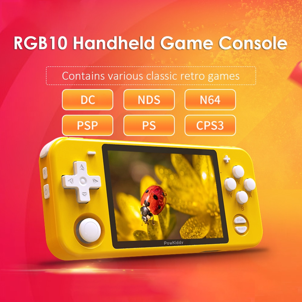 Portable RGB10 Open Source System Handheld Game Console RK3326 Chip 3.5-Inch IPS HD Screen 3D Rocker Retro Game Children's Gift