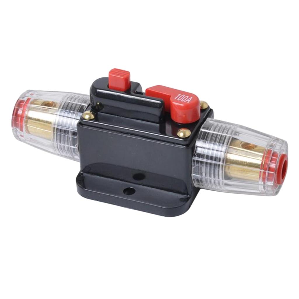 Perfeclan 12V 100A interruptor de circuito en línea Solar/Audio/coche/Video portafusibles