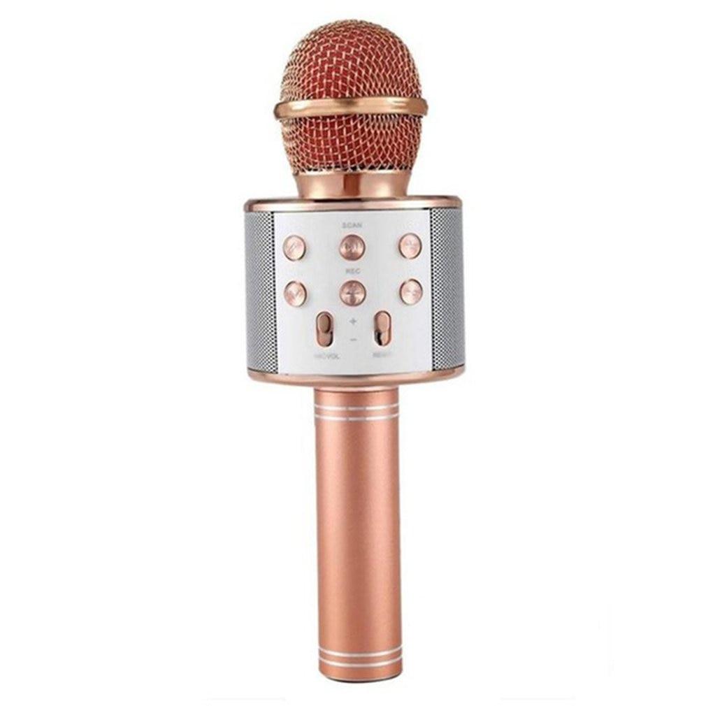 Micrófono portátil de WS-858 profesional, micrófono inalámbrico portátil para Karaoke en casa, micrófono y reproductor de micrófonos